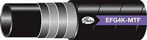Gates 182-7008-4004 Synthetic Rubber Spiral Wire Hose SAE 100R12 MegaTuff Cover 4000 Working PSI 100 Length 40/°F to +250/°F Temperature Range 0.5 ID