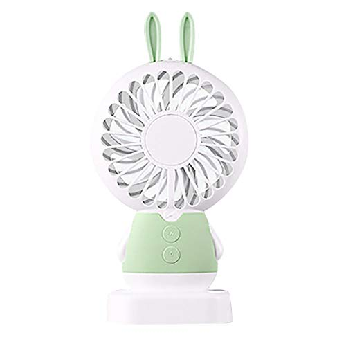 Kiminana Fans,Portable Handheld Cooling Fan Colorful LED Handheld USB Rechargeable Electric