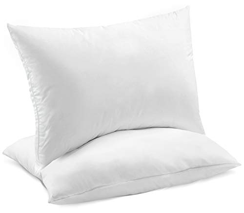 Celeep 2-Pack Bed Pillows – Ultra Soft Sand Washed Cover, Sleeping Pillows with Lofty Microfiber Filling
