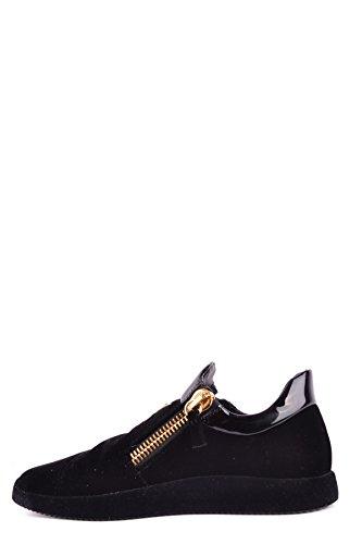 Van Giuseppe Zanotti Ontwerp Mannen Mcbi362003o Zwart Fluwelen Sneakers