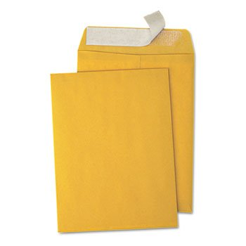 Universal 40102 Peel Seal Strip Catalog Envelope, 9 x 12, Kraft, 100/Box