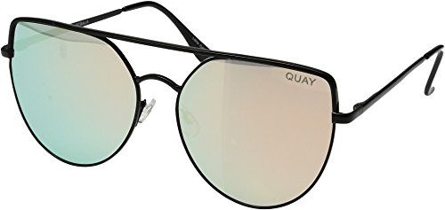 Quay Women's Santa Fe Sunglasses, Black/Red, One - Australia Fe Santa