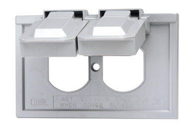 Leviton Not Available 4976-GY 1-Gang Duplex Wallplate Cover, Weather-Resistant, Thermoplastic, Device Mount, Horizontal, Gray