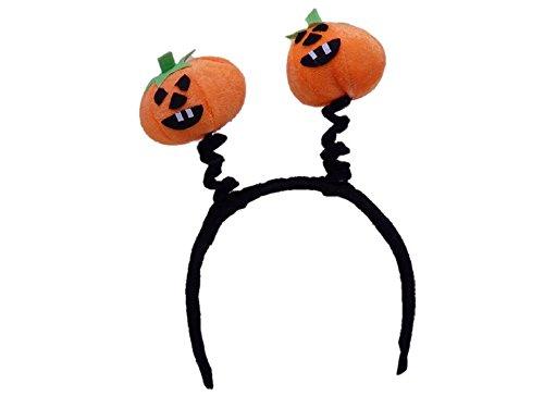 (Halloween Pumpkin Boppers with Plush Headband -)