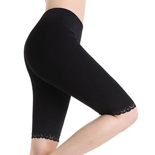 Women Underskirts Shorts Stretch Safety Bermuda Lace Pants Yoga Short Leggings