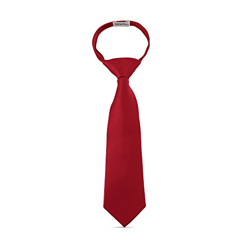 Handmade 11 Zipper Ties For Boys Woven Boys Burgundy Ties: For Kids Wedding Graduation
