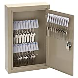 Office Depot High-Security Locking 30-Key Cabinet, 12 1/8in.H x 8 1/8in.W x 2 1/2in.D, Sand, 201903003
