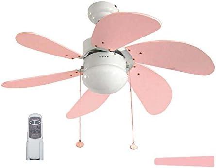 Pack Ventilador infantil de LED y Mando a distancia rosa/celeste.: Amazon.es: Iluminación