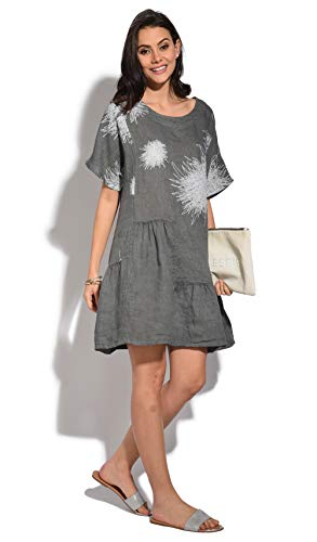 100 100 Lin Robe Femme Robe Femme Anthracite Lin Anthracite 100 Lin Bn5qwSYqO