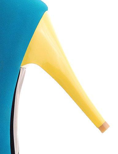 GGX GGX GGX  Damen-High Heels-Büro   Lässig-Vlies-Stöckelabsatz-Absätze   Rundeschuh-Blau   Braun   Rot ec7476