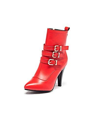 Damen Trichterabsatz Geschlossen Zehen Stiefel Zulaufender Spitz Stiefel Damen Citior Zehenbereich Damen wRIxOnUf5q