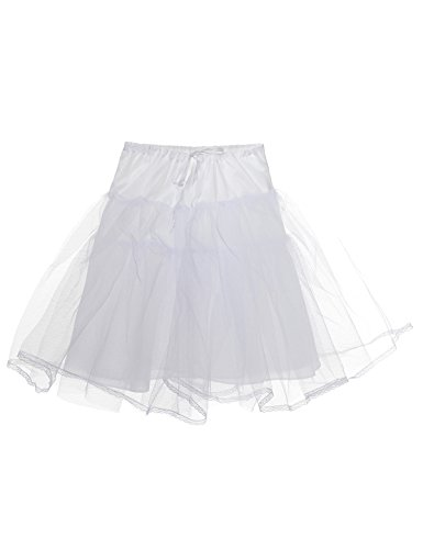 Remedios Kids White 3 Layers Wedding Flower Girl Petticoat/Underskirt/Crinoline,Small / 18-26 Inches, -