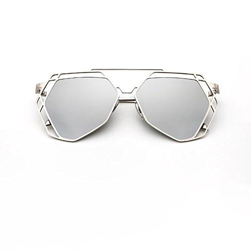 y ligero de peso hombre retro Gris sol mujer moda resina viaje Gris YXX de Gafas Gafas metal de de conducción Color wa6pgg
