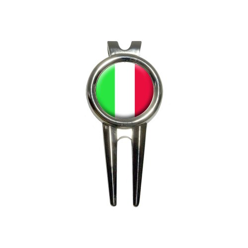 Italy Italian Flag Golf Divot Repair Tool and Ball Marker by