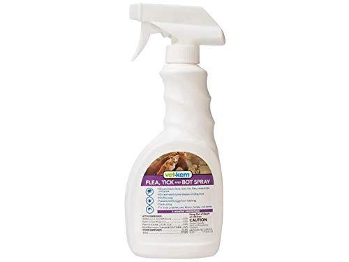 Vet-Kem Ovitrol Plus Flea, Tick and Bot Spray for Pets, 16-Ounce
