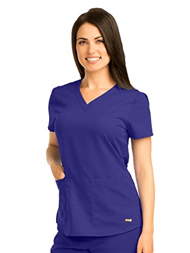Grey's Anatomy 71166 V-Neck Top Purple Rain -