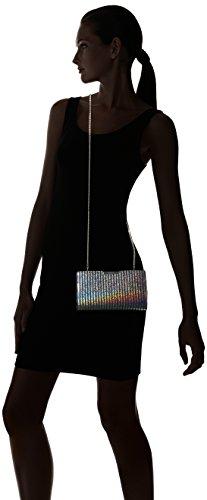 Milly Clutch Silver Metallic Stripe Small Frame Womens 0xr0AqwO