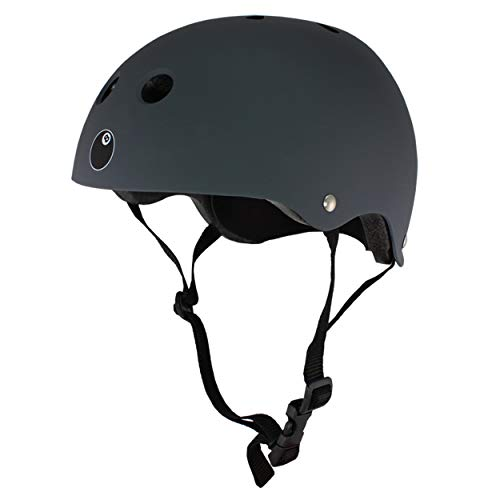 (Eight Ball Dual Certified Kids Helmet for Bike, Skate, and Scooter, Gun Matte)