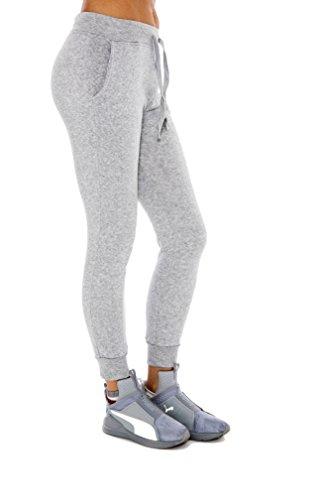 City Style Ankle Pant (Unique Styles Women's Jogger Sweatpants Warm Solid Color Lounge Pants - Assorted Colors (Large, Gray))