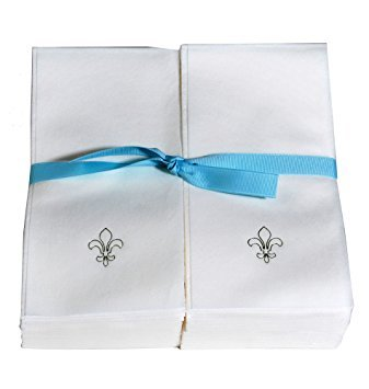Disposable Nature's Linen Guest Hand Towels with Ribbon - Pe