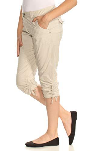 (INC International Concepts Petite Ruched-Leg Cargo Capri Pants (Beige, 8P))