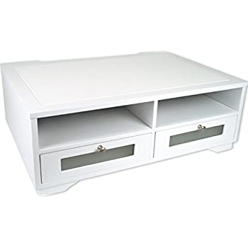 Amazon Com Victor W1130 Pure White Wood Printer Stand