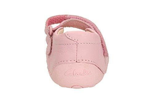 Clarks Wenig Marmelade Mädchen Pre Walker Schuhe in weiß, rosa oder Navy Baby Pink 4½ E