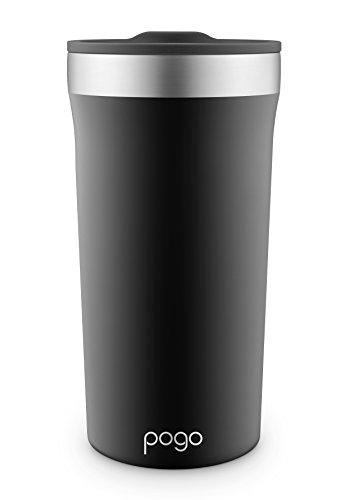 Pogo Fuller Stainless Steel Vacuum Insulated Tumbler, Black, 20 oz.