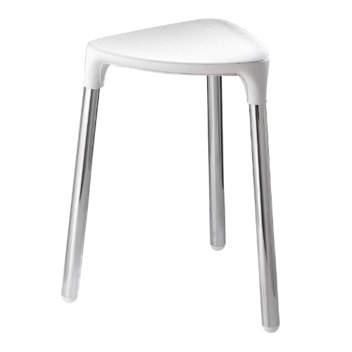 Nameeks 2172-E2 Yannis Stool Shower Seat, White
