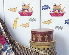 Wallies Wallpaper Cutouts (25 Daisy Kingdom Country Noah Wallies) by Wallies ()