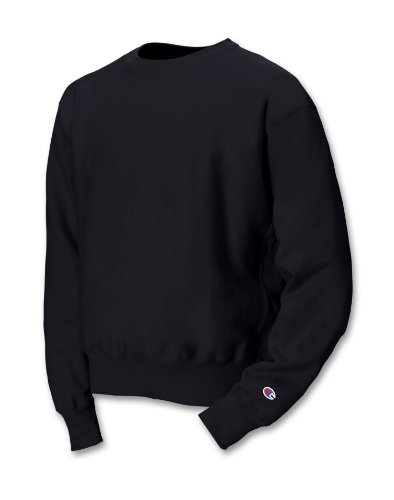 Champion 12 oz.; 82/18 Reverse Weave Crew - BLACK - S