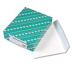 ** Redi Strip Open Side Booklet Envelope, Contemporary, 12 x 9, White, 100/Box **