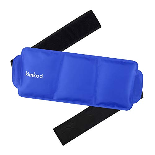 Gel Ice Pack with Strap-Cold& Heat Compress Therapy -Support Injury Recovery and Relieve Pain, for Back, Knee, Waist, Shoulder, Ankle.Reusable and Flexible