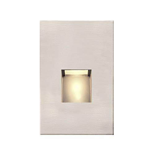 Satin Nickel LED Recessed Step Light 2700K 20 Lumens ()