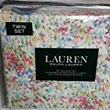 Ralph Lauren Pink Watercolor Abstract Floral Sheet Set Set 1.