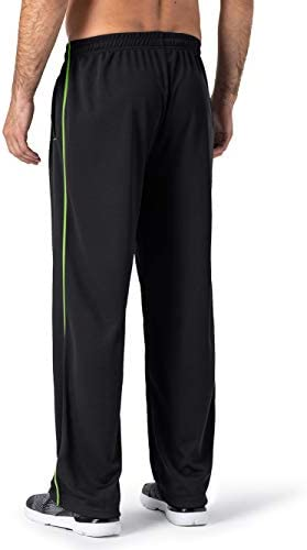 31MGP58eYZL. AC MAGNIVIT Men's Lightweight Sweatpants Loose Fit Open Bottom Mesh Athletic Pants with Zipper Pockets    Product Description