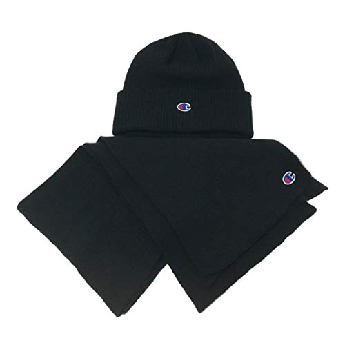- Champion Men's Mogul Beanie & Scarf Set, Black One Size