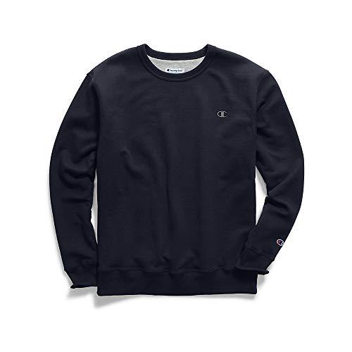 Champion Men's Powerblend Fleece Pullover Sweatshirt, Navy, 3XL from Champion