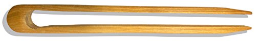 Premium Cherry Wood Toaster Tongs | Wooden Kitchen Tongs & Great Hand Made Gift | Food Safe by Michigan Wooden Spoon by Michigan Wooden Spoon (Image #3)