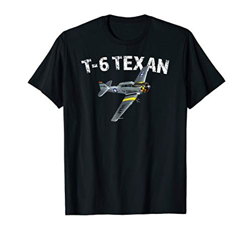 T-6 Texan Shirt Vintage Air Force Trainer Aircraft Tee