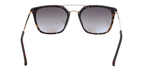 d1616656a2aab8 ... Guess lunettes de soleil carré double pont à la Havane foncé GU6922 52X  53 Blue Mirror