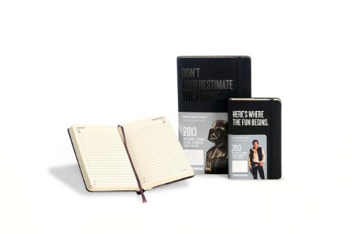 Moleskine 2013 Star Wars Limited Edition Daily Planner, 12 Month, Pocket, Black, Hard Cover (3.5 x 5.5) ()