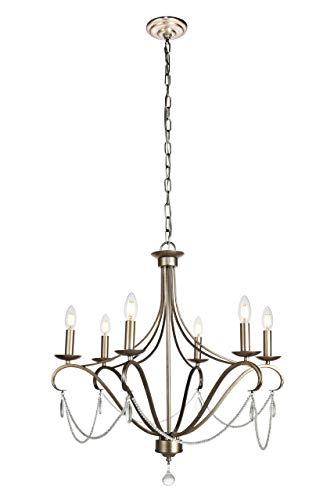 - Elegant Lighting LD5004D26 Baez 6 Light 26-5/16