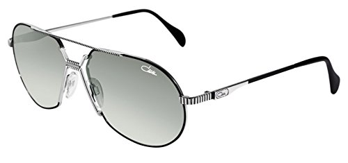 Cazal Legends 968 Sunglasses 002SG Black Silver/Grey Gradient Lens 62 - Aviator Cazal Sunglasses