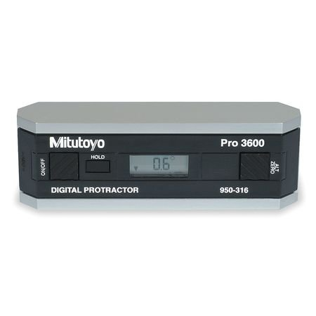 Electronic Digital Protractor, 6 In, SPC by Mitutoyo