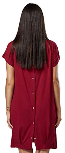 Happy Mama. Womens Labor Delivery Hospital Gown Breastfeeding Maternity. 097p (Crimson, US 10/12, L)]()