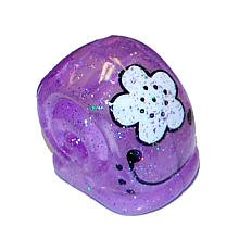 XiaXia Pets Hermit Crab Shell Glitter Purple with White Flower