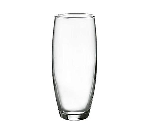 Winco 12-Piece Gem Stem Less Champagne Flutes Set, 8.5-Ounce