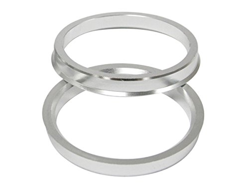 UberTechnic Hubcentric Rings - 57.1mm ID to 66.6mm OD - Billet Aluminum Hubrings - Only Fits 57.1mm Vehicle Hub & 66.6mm Wheel Centerbore - Hub Centric Centering Rings (Pack of 4) by Uber Technic (Image #4)