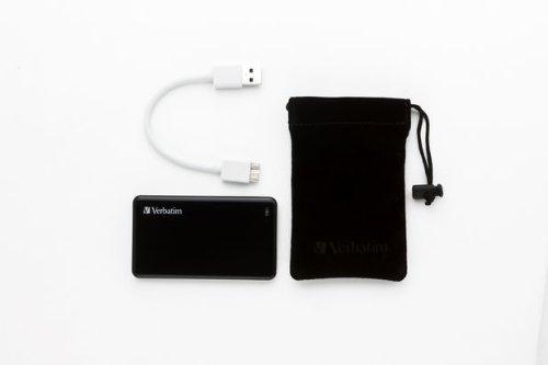 Verbatim 256GB Store'n' Go External SSD, USB 3.0 - Black - TAA Compliant